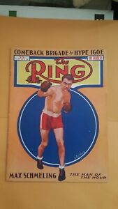 Vintage Ring Boxing Magazine. October 1936. Max Schmeling.