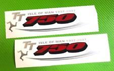 GSXR 750 TT logo Badge Track bike or road fairing Decals Stickers PAIR #208TT