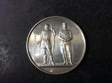 More details for vintage n.r.a. national rifle assn. cadet trophy 1936 silver medal hm b'ham 1935