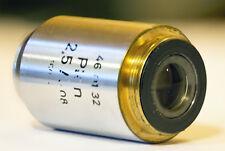 ZEISS Objektiv Mikroskop Plan 2,5 / 0,08 160 /-  Nr. 46 01 32