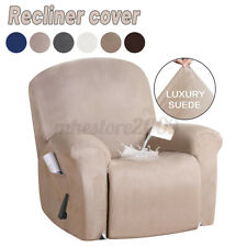 Waterproof Luxury Suede Stretch Recliner Slipcover Soft Sofa Arm Chair Cover NEW