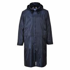 Portwest S438 Classic Adult Long Waterproof Rain Coat Jacket - Navy Blue