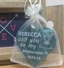 Will you be my Bridesmaid Gifts Personalised Wedding Bridal Heart Keepsake Idea