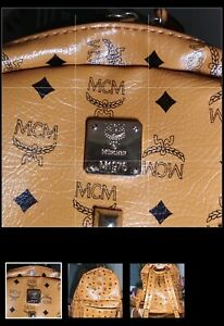 MCM Large Backpack - Cognac