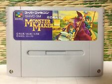 Monster Maker 3 III  Super Famicom Japan SNES SFC Very Good Condition!