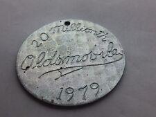 Vintage Oldsmobile 1979 20 millionth car tag