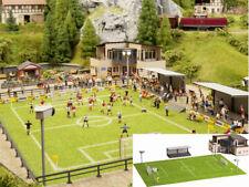 NOCH 66830 Fußballplatz Vereinsheim microsound Tribüne Flutlicht Bausatz H0 Neu