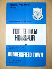 Football League CUP 2nd Round 1972- TOTTENHAM HOTSPUR v HUDDERSFIELD TOWN,6 Sept