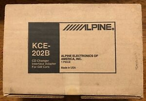 New Old School Alpine KCE-202B CD Changer Interface Adapter for GM Cars,NOS,NIB