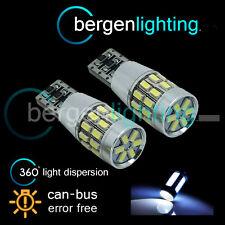 2X W5W T10 501 CANBUS ERROR FREE BIANCO 30 SMD LAMPADE LUCI POSIZIONE LED