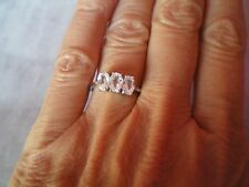 Ratanakiri Zircon ring, size N/O, 2.37 carats, in 1.9 grams of 9 carat white gol