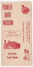 PIONEER AUTO MUSEUM Murdo South Dakota VINTAGE BROCHURE 1950s 60s CARS Autos SD