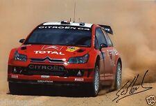 "Rally Driver Sebastien Loeb  WRC Hand Signed Photo Autograph 12x8"" AB"