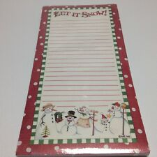 """Christmas """"Let it Snow"""" Magnet Note Pad 4x8"""