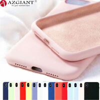 For IPhone 11 Pro Max XR XS 6 6S 7 8 Plus Liquid Silicone Phone Case Soft Cover