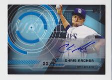 CHRIS ARCHER 2014 Topps Trajectory Auto #TA-CA Tampa Bay Rays Ace
