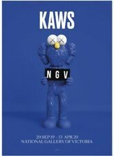 KAWS x National Gallery of Victoria BFF Blue Poster