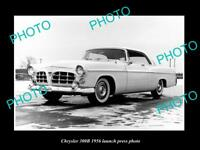 OLD LARGE HISTORIC PHOTO OF CHRYSLER 300B 1956 LAUNCH PRESS PHOTO