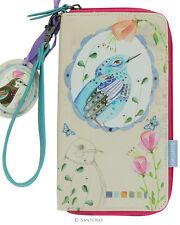Santoro London Watercolor Birds Large Zip Wallet