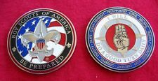 SET of 2 - SCOUT SIGN Challenge Coin Law Motto Cub Boy Scout 2017 Jamboree