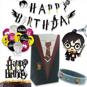 Harry P Party Bags, Balloon, banner, wristbands - fillers, favours, supplies
