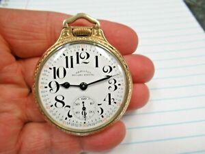 Hamilton 992B Railway Special 21J Adj to Temp & 6 Pos 16S Pocket Watch BOC Case
