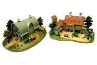 2 Piece Set The Danbury Mint John Deere Country Farm Scenes Houses