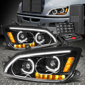 FOR 08-19 KENWORTH T170 T370 T660 LED DRL SIGNAL PROJECTOR HEADLIGHTS+TOOL SET