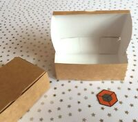 30  Brown kraft  ♻️  Quality ~~ White lined ~~ Cake boxes  105x65x35mm