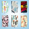 Plume Flip Wallet Case Cover for Samsung Galaxy S3 4 5 6 7 8 Edge Note Plus 014