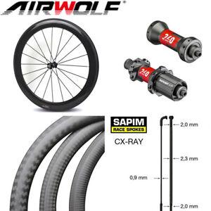 Carbon Bicycle Wheel With DT240S Hub Sapim CX-Ray Spoke 700c Road Bike Wheelset