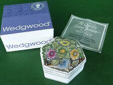 Wedgwood Queen Elizabeth II Silver Jubilee Susie Cooper Hexagonal Trinket Box