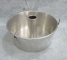 Vintage Aluminum 4x10 Angel Food cake pan w removable center bottom FREE S/H