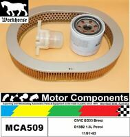 FILTER SERVICE KIT for Honda CIVIC EG33 Breez D13B2 1.3L Petrol 11/91>93