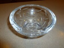 NAMBE CRYSTAL BOWL Etched Clear Round