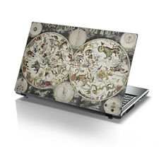 """TaylorHe 15.6"""" Laptop Vinyl Skin Sticker Decal Old School Map and Zodiacs 2160"""