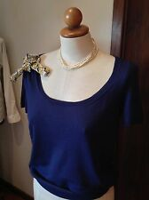 Louis Vuitton Short Sleeve Top W/ LV Flower Pin and Silk Tie