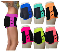 Ladies High Waist Running Athletic Gym Workout Yoga Shorts Leggings for Womens