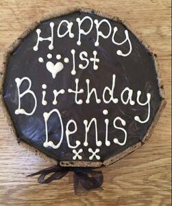 """🐶The Cornish Barkery Natural Dog Personalised Celebration Gift Birthday Cake 6"""""""