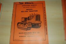 ALLIS-CHALMERS HD-19H Tractor Dozer Crawler Owner Operator Operation Manual book