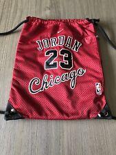 MICHAEL JORDAN 23 Chicago Bulls Vintage Red Jersey Drawstring Bag