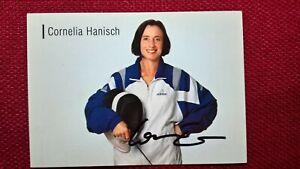 Original-Autogramm von Cornelia Hanisch (Fechten), Farbbild, Postkartengröße