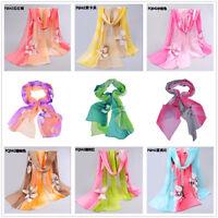 Women Pashmina Soft Chiffon Silk Wrap Shawl Scarf Long Voile Stole