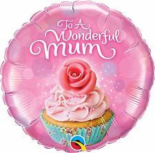 to a Wonderful Mum Cupcake Qualatex 18 Inch Foil Balloon - Mothers Day