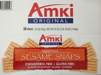 Amki Sesame Snacks  1.25 oz, 36 ct