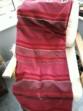 Burgundy Red Amd Gold Eyelet Lined Curtains 90 X 90 Inches
