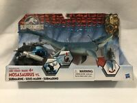 Jurassic World Mosasaurus VS Submarine 2015 Underwater Dinosaur Creature NEW NIB