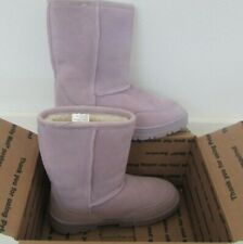 Sox-Tab Womans Shoes Purple Suede WINTER Boots Size 6