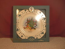 """Lenox Collectibles Disney Mickey Mouse Trimming Tree Plate 10 1/2"""" 1997 NIB"""