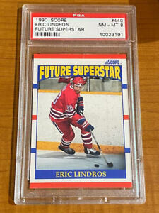 1990 Score Future Superstar #440 - Eric Lindros Rookie RC - PSA 8